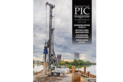 magazine cover of piling industry canada december 2020 issue